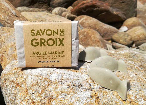 Savon à l'argile marine, huiles essentielles d'orange et cèdre