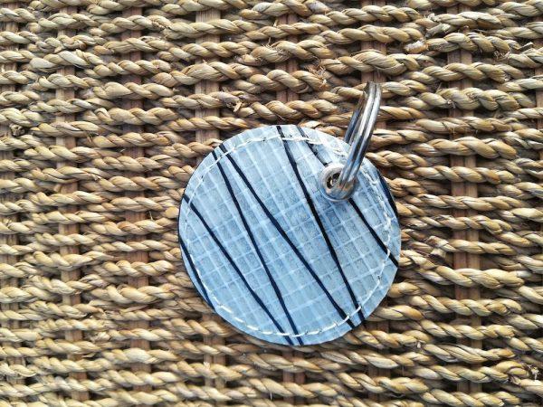 Porte-clefs voile et cuir